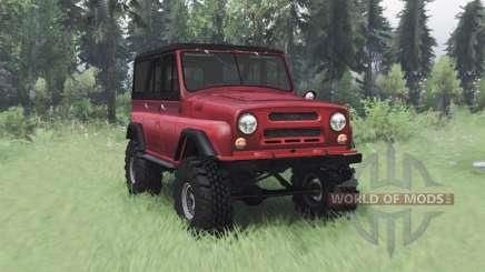 UAZ 469 red v1.2 for Spin Tires