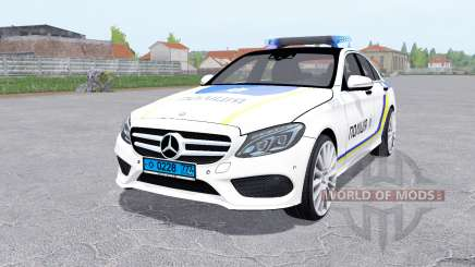Mercedes-Benz C 250 AMG (W205) Police for Farming Simulator 2017