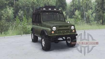 UAZ 469 khaki v1.2 for Spin Tires