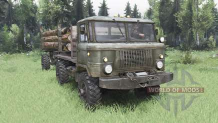 GAZ 66 4x4 for Spin Tires