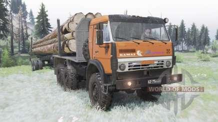 KamAZ 5350 moderately-orange for Spin Tires