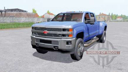 Chevrolet Silverado 3500 HD Crew Caɓ for Farming Simulator 2017