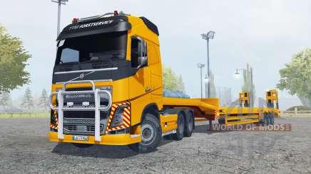 Volvo FH16 600 Globetrotter special transport for Farming Simulator 2013