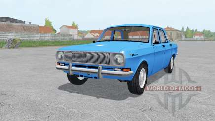 GAZ 24 Volga moderately-blue for Farming Simulator 2017