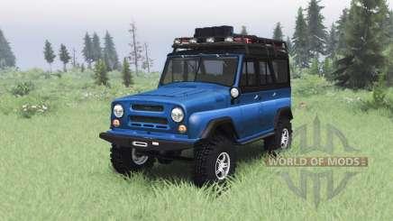 UAZ 469 blue v1.2 for Spin Tires