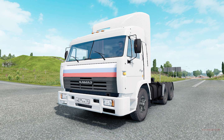 KamAZ-54115 White Color For Euro Truck Simulator 2