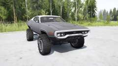 Plymouth GTX 1971 (GR2-RS23) lifted for MudRunner