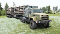KrAZ-7140Н6 antiqued cabin for MudRunner