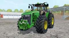 John Deere 8370R added wheels for Farming Simulator 2015