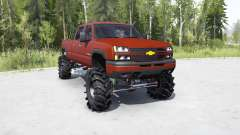 Chevrolet Silverado 2500 HD Crew Cab 2002 lifted for MudRunner