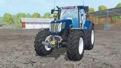 New Holland T7.270 dark blue for Farming Simulator 2015