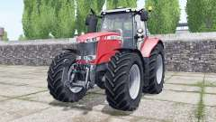 Massey Ferguson 7722 Michelin tires selectable for Farming Simulator 2017