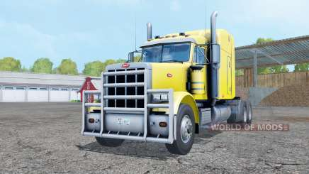 Peterbilt 378 pure yellow for Farming Simulator 2015