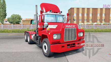 Mack R600 Day Cab 6x4 red salsa for Euro Truck Simulator 2