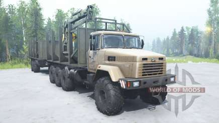 KrAZ 7140Н6 beige color for MudRunner