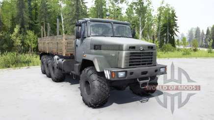 KrAZ 7140Н6 dark gray-green color for MudRunner