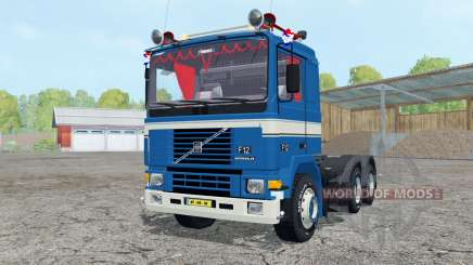 Volvo F12 dark blue for Farming Simulator 2015