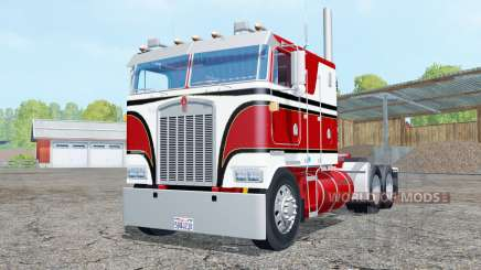 Kenworth K100 amaranth red for Farming Simulator 2015