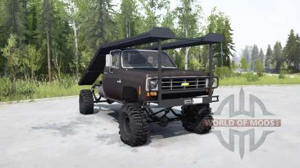 Chevrolet K20 1975 ramp truck for MudRunner