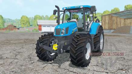 New Holland T6.175 process cyan for Farming Simulator 2015