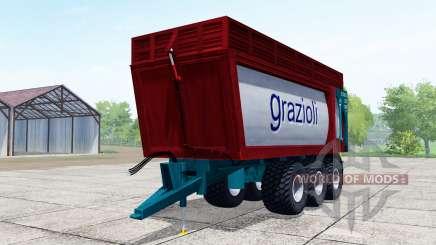 Grazioli Domex 200-6 dark red for Farming Simulator 2017
