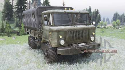 GAZ-66 greyish green for Spin Tires