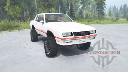 Chevrolet Monte Carlo SS 1986 lifted for MudRunner