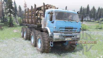 KamAZ connecting Rod the bright blue color for Spin Tires