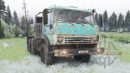 KamAZ-53504 in celadon for Spin Tires