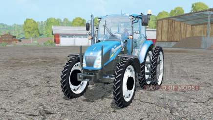 New Holland T4.55 pure cyan for Farming Simulator 2015
