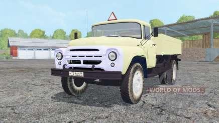 ZIL-130 light grayish-yellow color for Farming Simulator 2015