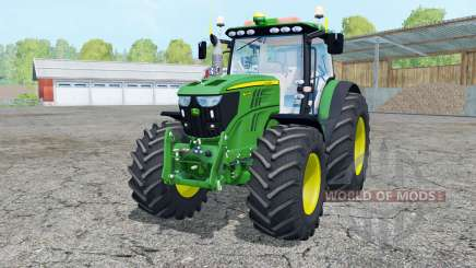 John Deere 6210R moving elements for Farming Simulator 2015