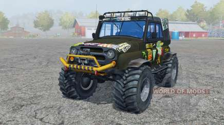 UAZ Hunter (315195-130) Monster for Farming Simulator 2013