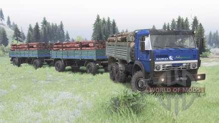 KamAZ 5350 dark blue for Spin Tires
