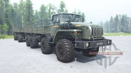 Ural 6614 gray-green color for MudRunner