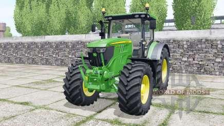 John Deere 6215R very light malachite green for Farming Simulator 2017