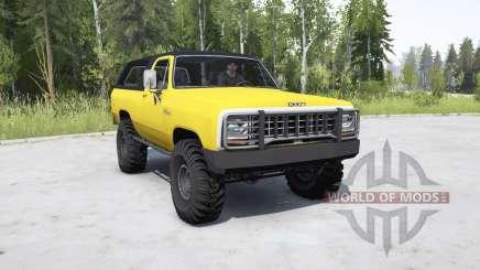 Dodge Ramcharger 1982 _ for MudRunner