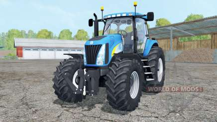 New Holland TG 285 cyan for Farming Simulator 2015