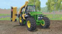 John Deere 7810 with municipal mower for Farming Simulator 2015