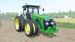 John Deere 8R moving elements for Farming Simulator 2017