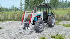 MTZ-1221 Belarus tractor with a loader for Farming Simulator 2015