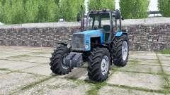 MTZ-1221 Belarus bright blue color for Farming Simulator 2017