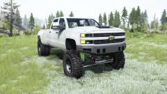Chevrolet Silverado 3500 HD (GMTK2H) 2015 lifted for MudRunner