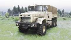 KrAZ-6322 light beige color for Spin Tires