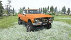 Chevrolet K10 1968 lifted for MudRunner
