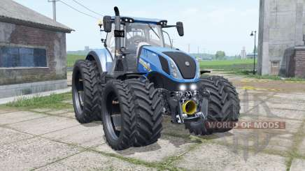 New Holland T7.315 narrow dual wheels for Farming Simulator 2017