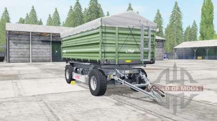 Fliegl DK 180-88 dark sea green for Farming Simulator 2017