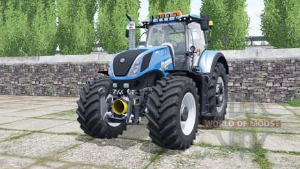 New Holland T7.290 rich electric blue for Farming Simulator 2017