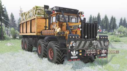 Kirovets K-700A 8x8 custom for Spin Tires
