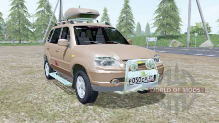Chevrolet Niva pale gray-brown color for Farming Simulator 2017